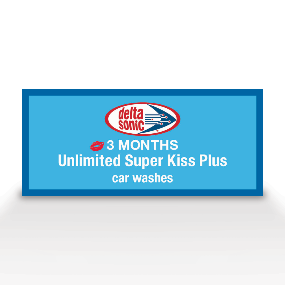 3 months of Unlimited Super Kiss Plus Car Washes ticket