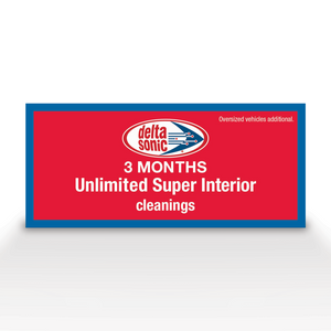 Ticket for Delta Sonic's 3 months of Unlimited Super Interior with Steam Cleaning