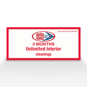 3 Months of Unlimited Interior Cleanings Ticket
