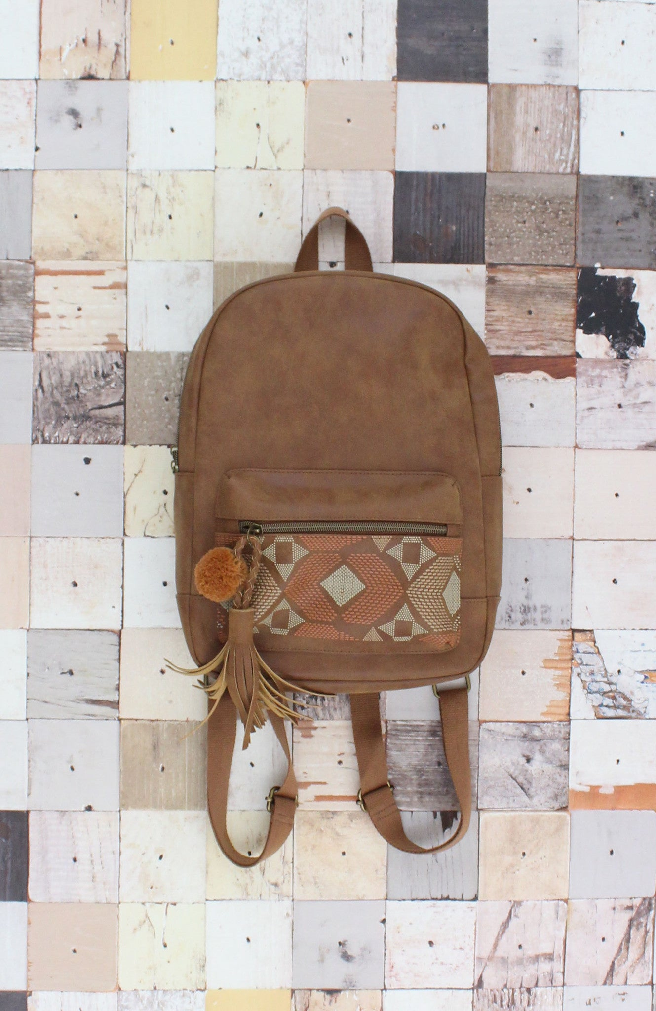 Natural Instincts Backpack in Cognac