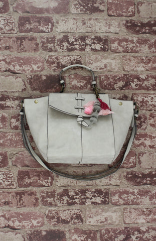 Mystic River Satchel in Bone