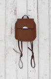 Flap Backpack in Cognac