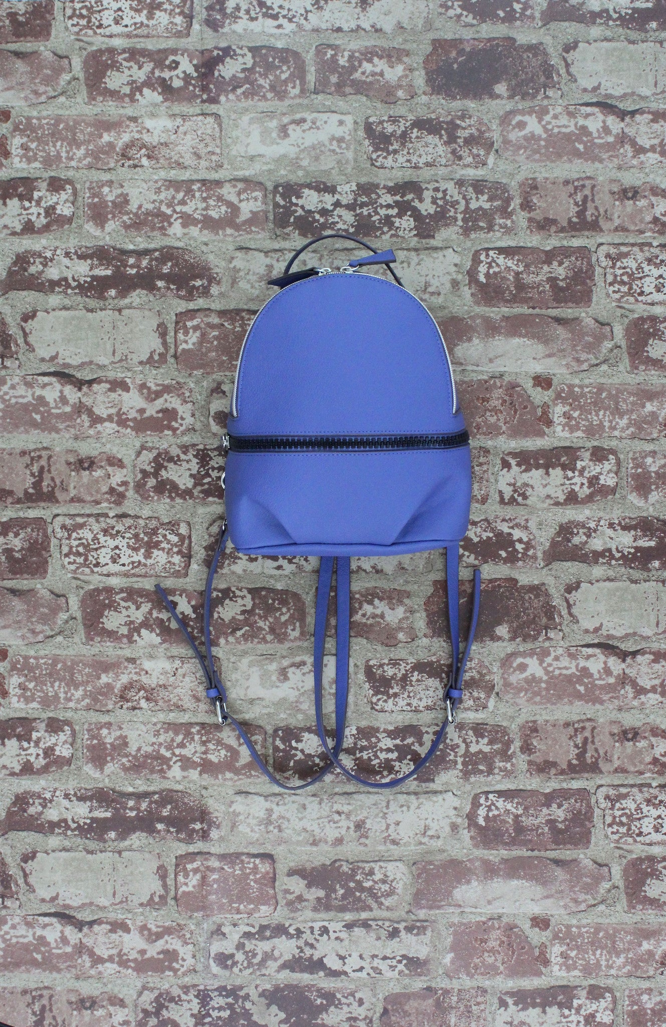 Zip Around Backpack in Blue