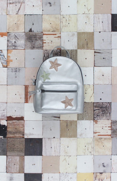 Starry Eyed Backpack in Silver