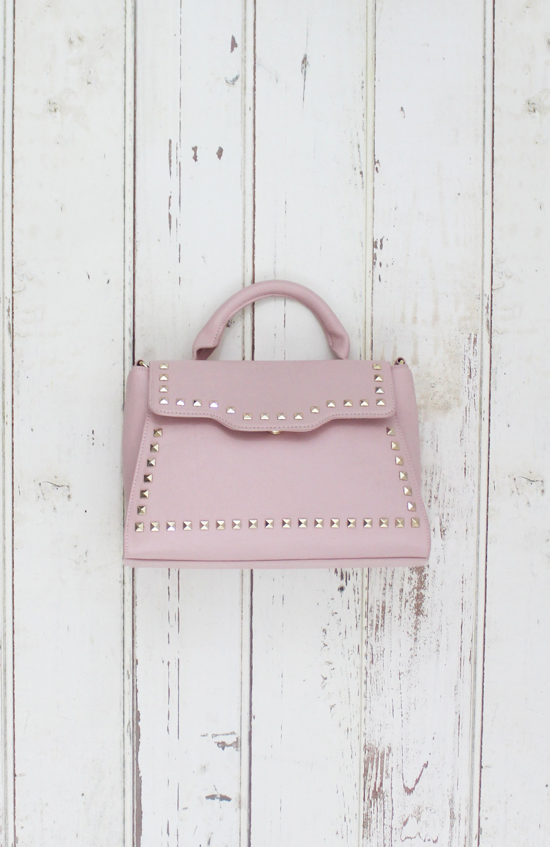 Sophia Satchel in Blush