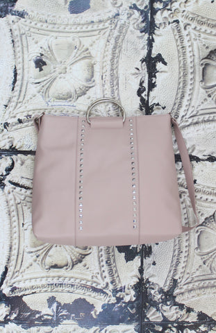 Shay Ring Handle Tote in Blush