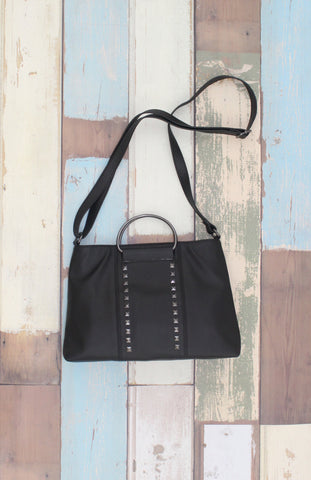 Shay Ring Handle Crossbody in Black
