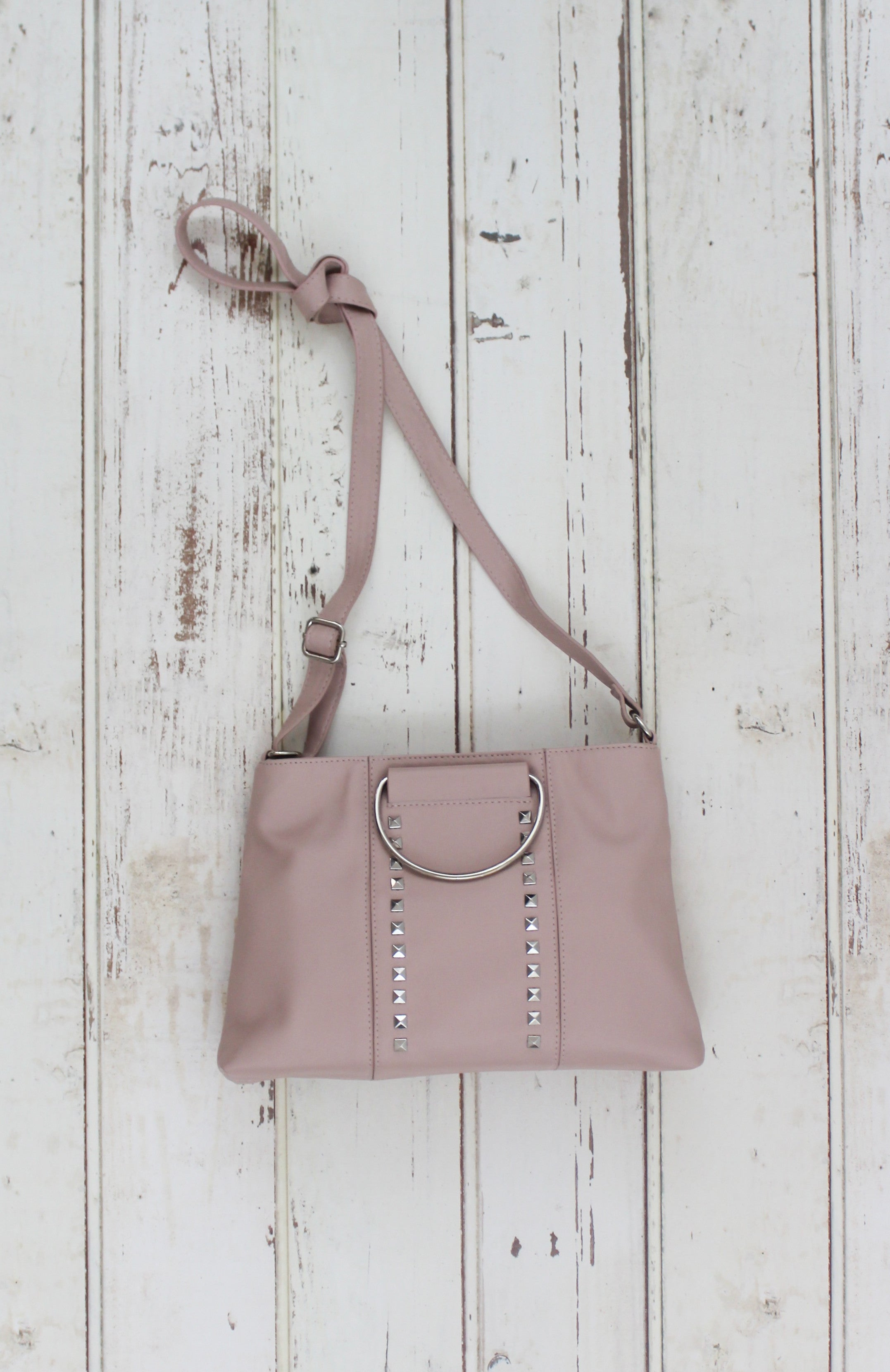 Shay Ring Handle Crossbody in Blush