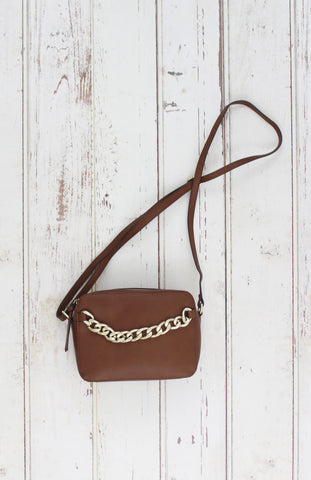 Riley Crossbody in Cognac