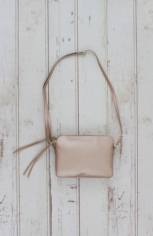 Avery Crossbody in Rose Gold