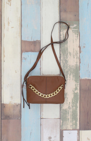 Madelyn Crossbody in Cognac