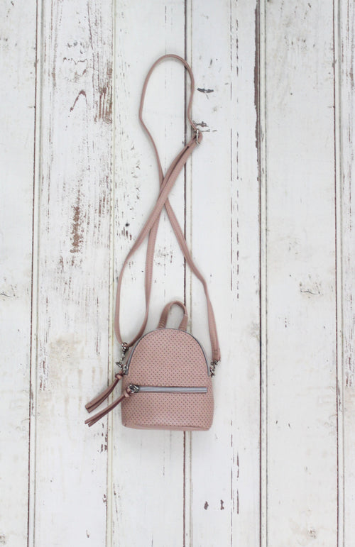 Florence Mini Backpack Crossbody in Blush