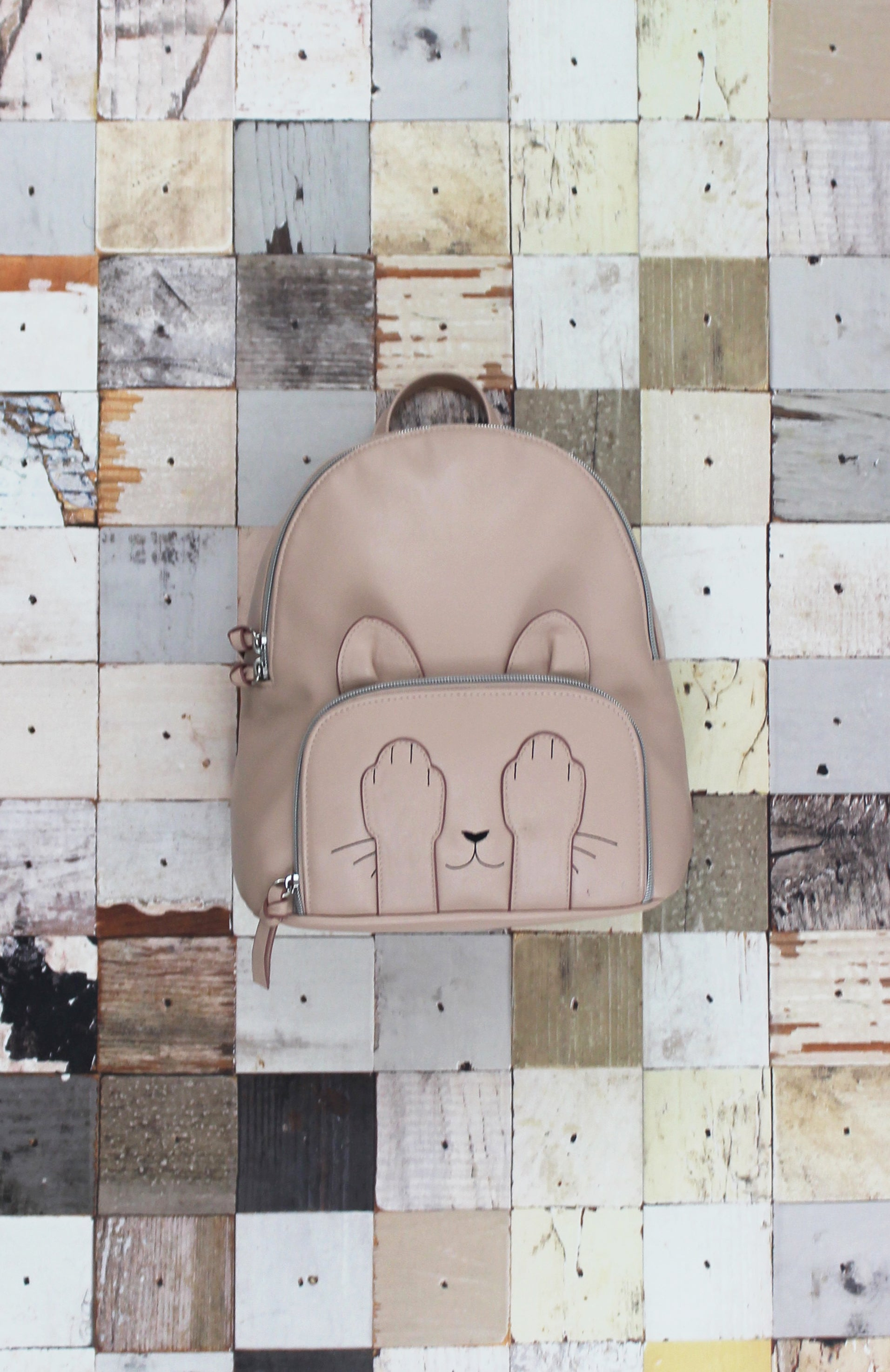 Marie Paws Dome Backpack in Blush