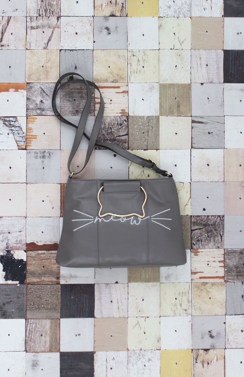 Right Meow Ring Satchel in Grey