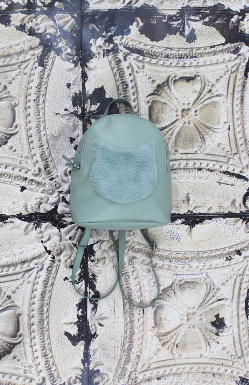 Just Kitten Backpack in Mint