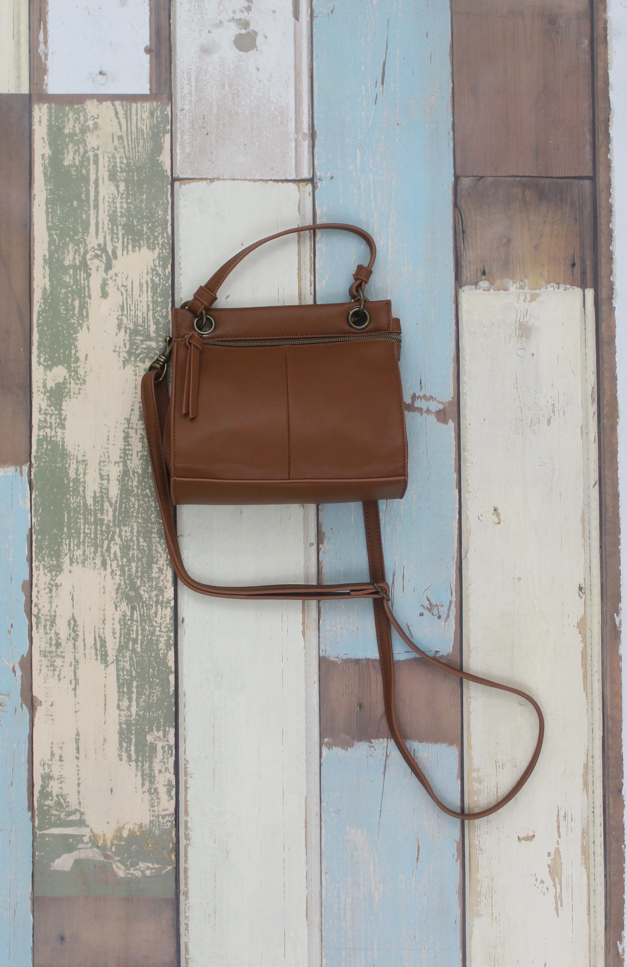 Diana Mini Satchel in Cognac