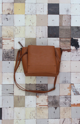 Layla Caged Crossbody in Cognac