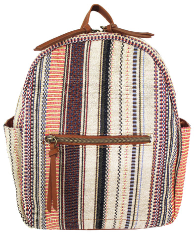 Nomi Dome Backpack in Blush & Burgundy
