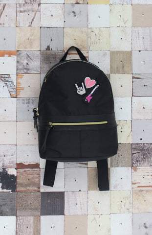 Pin Me Down Nylon Backpack in Black