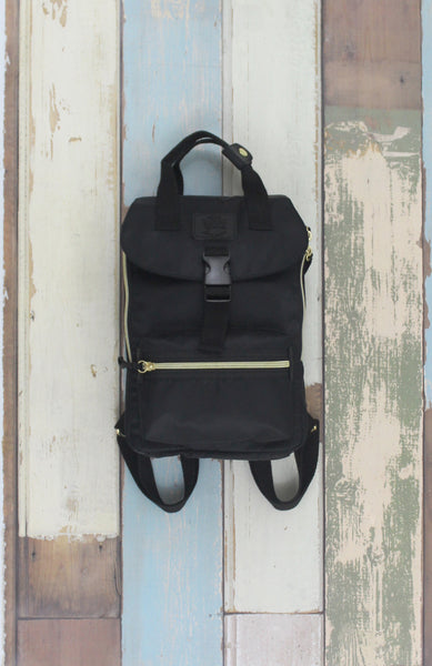 Happy Camper Small Backpack in Black