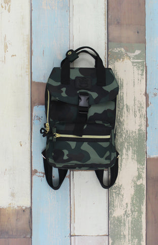 Happy Camper Small Backpack in Camo