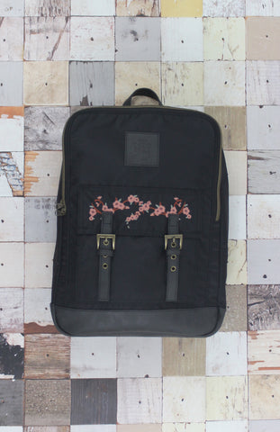 Sergeant Blossom Backpack in Black