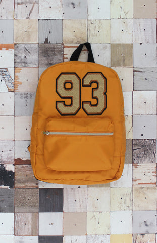 Varsity Couture Backpack in Orange