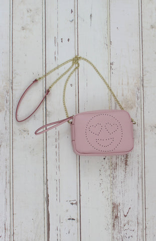 Heart Eyes Crossbody in Pink