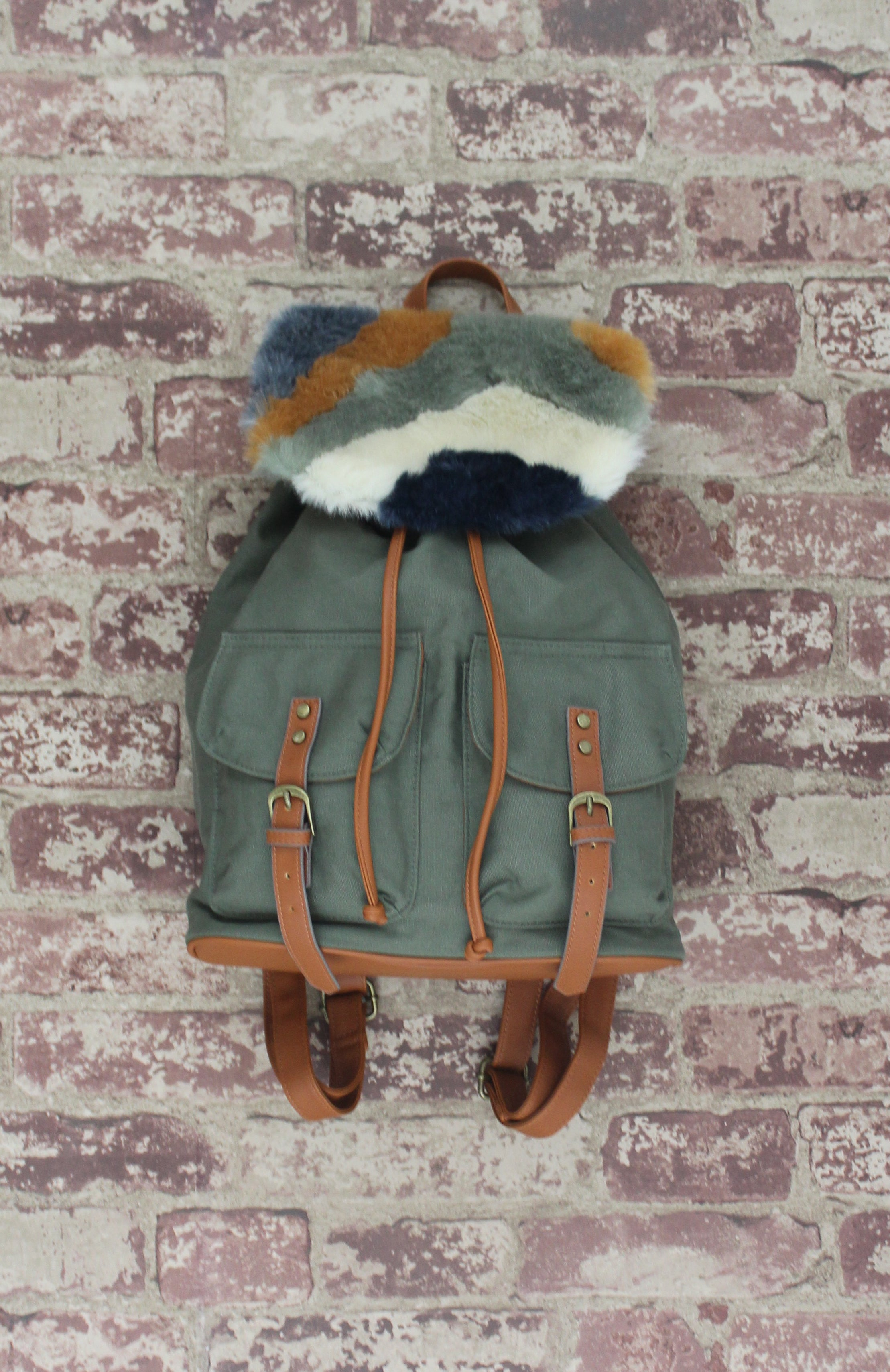 Woodside Bloom Backpack in Olive