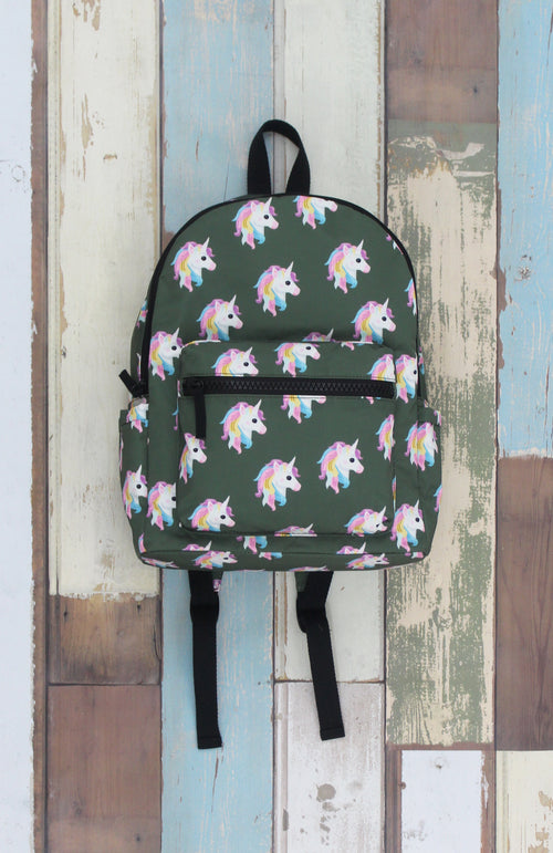 Campus Backpack in Olive Unicorn