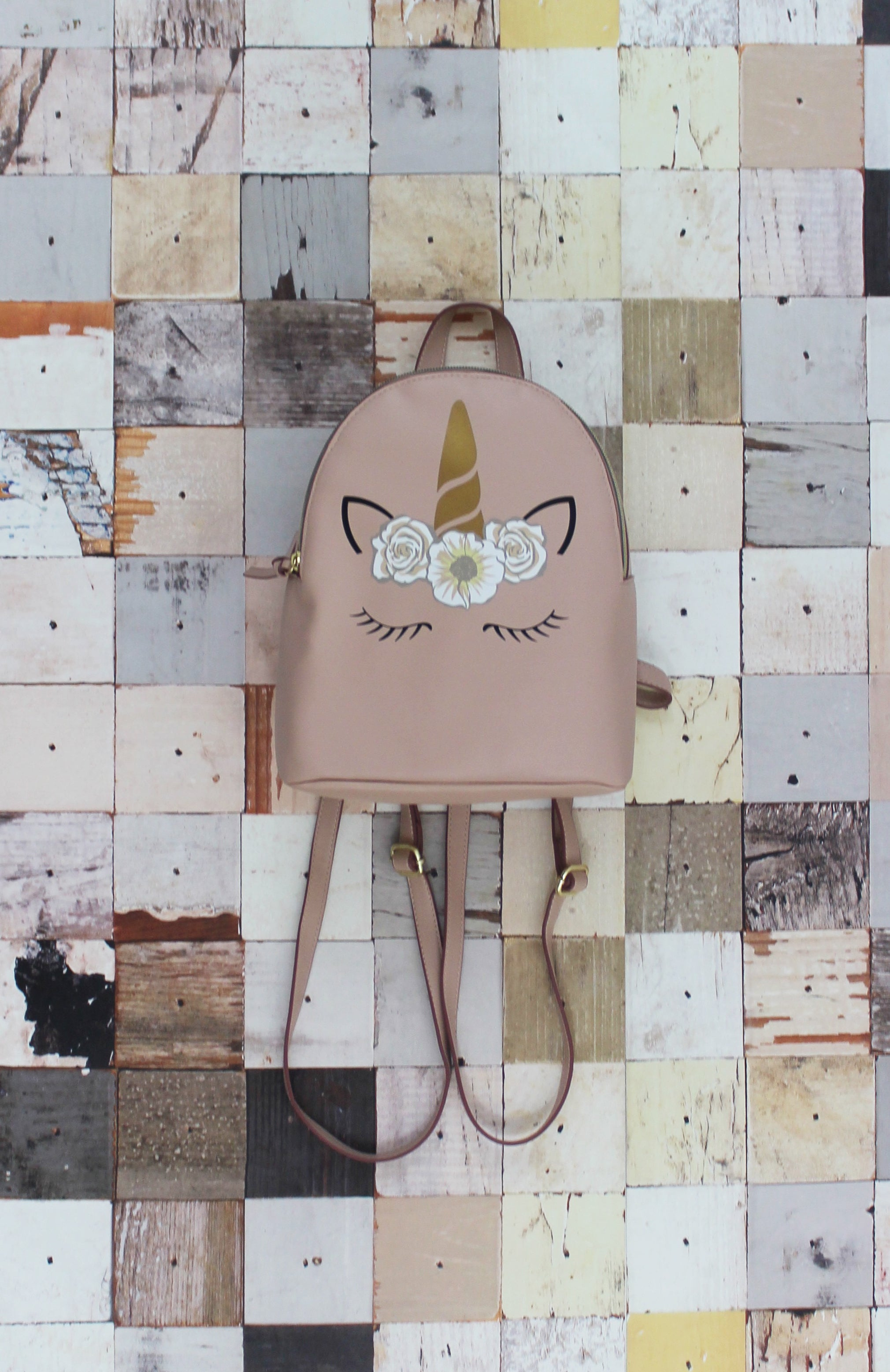 Luna Unicorn Backpack in Blush