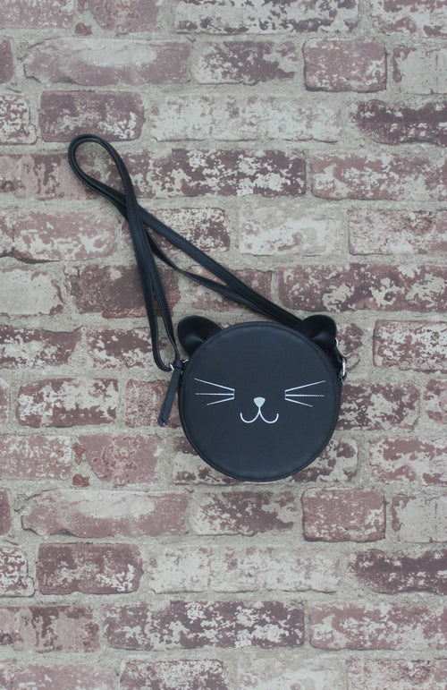 Just Kitten Canteen Crossbody in Black