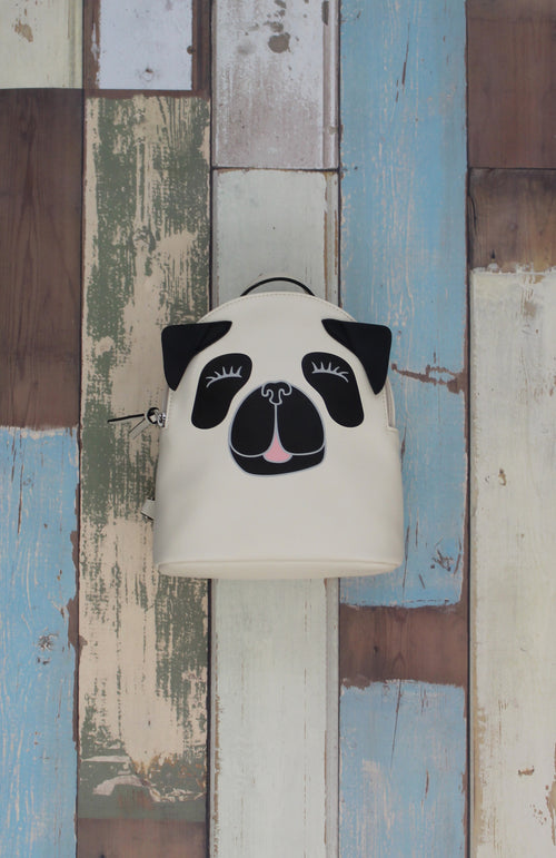 Pug Backpack in Bone