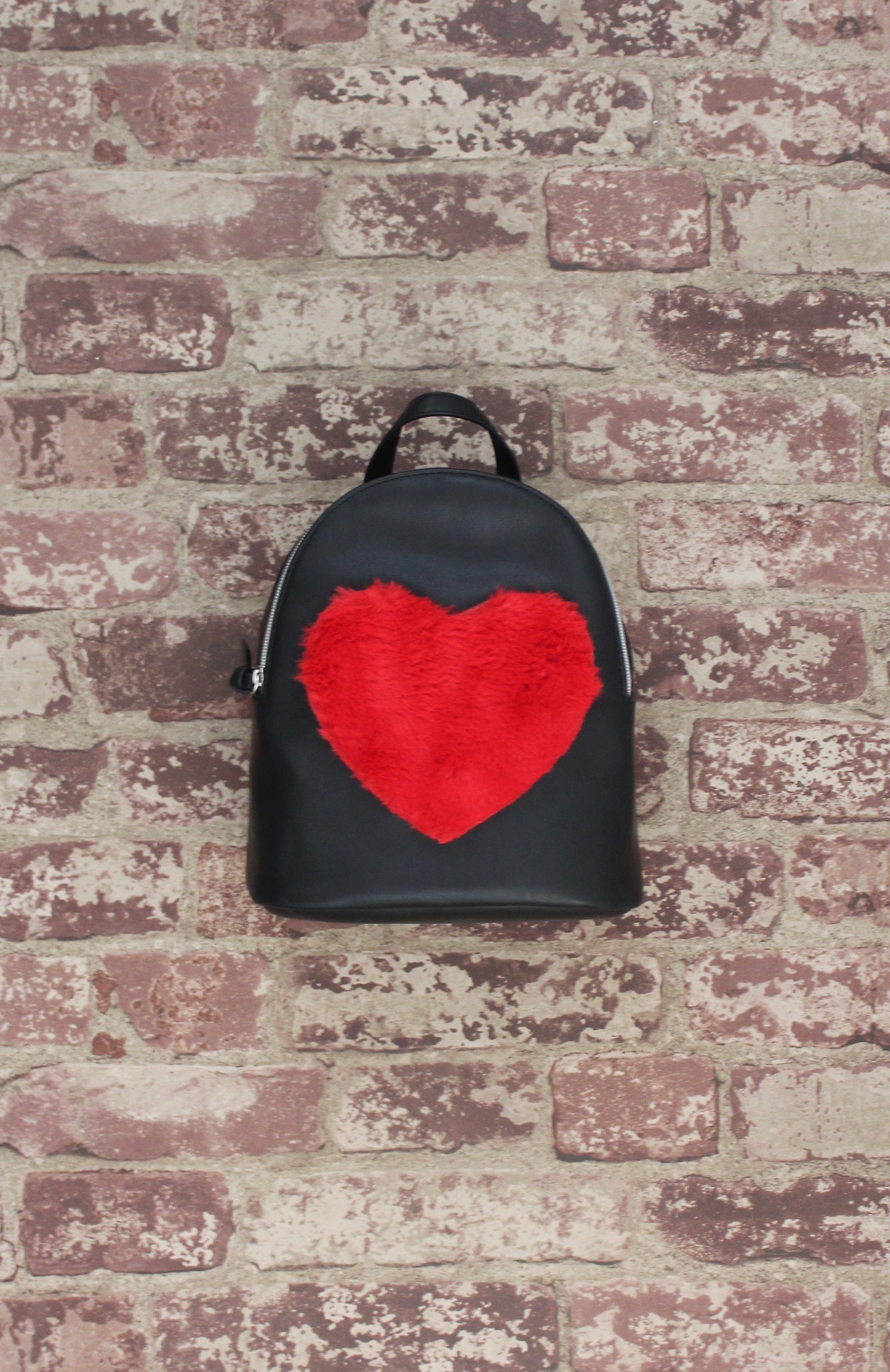 Love Furever Backpack in Black & Red
