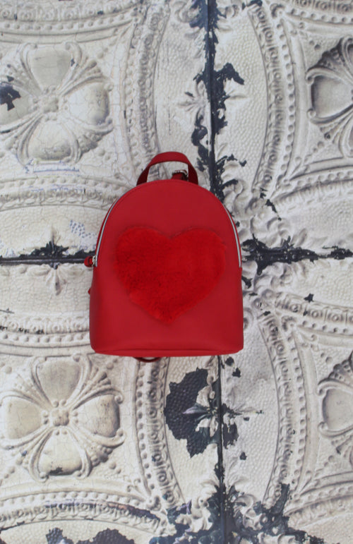 Love Furever Backpack in Red