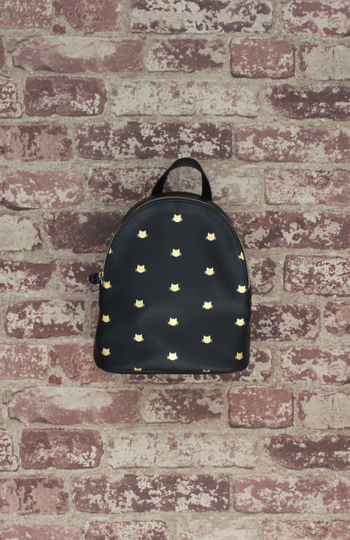 Harley Backpack in Black & Gold