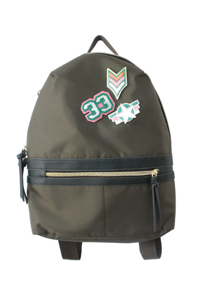 Pin Me Down Nylon Backpack in Olive