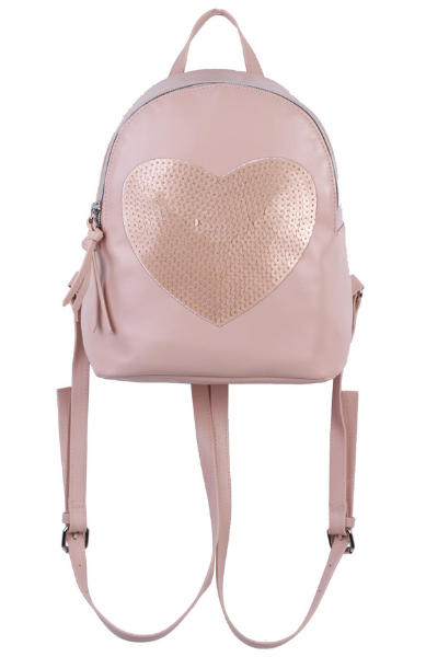 Sparkle Heart Backpack in Blush