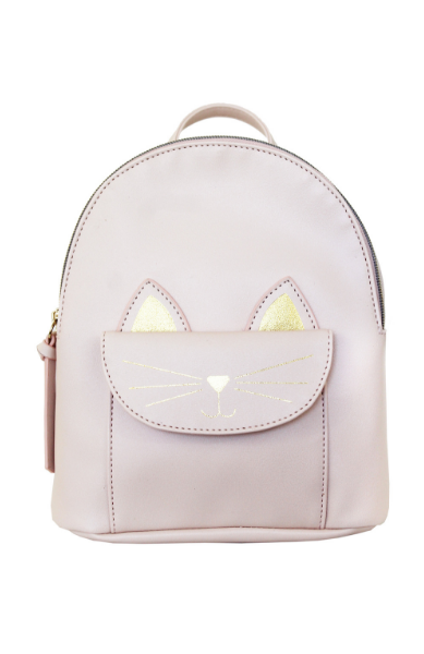 Kitty Pocket Backpack in Pink