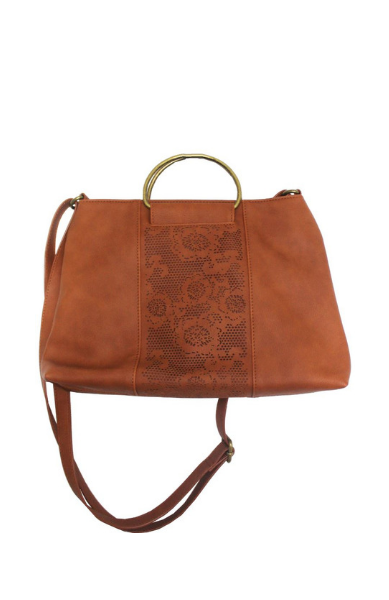 Sasha Ring Satchel in Cognac