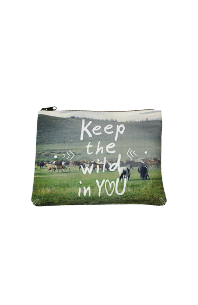 Keep the Wild in You Cosmetic Bag