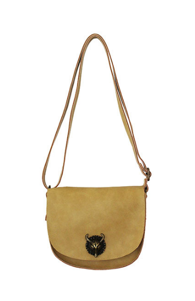 Bull Hardware Crossbody in Tan