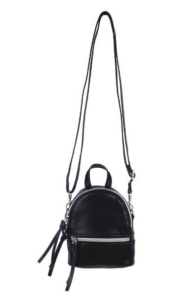 Florence Mini Backpack Crossbody in Black