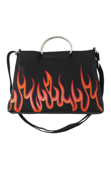 For The Record Ring Satchel in Flamin' Hot