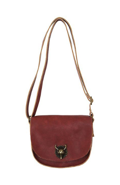Bull Hardware Crossbody in Marsala