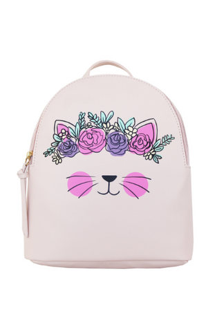 Kitty Pocket Backpack in Black