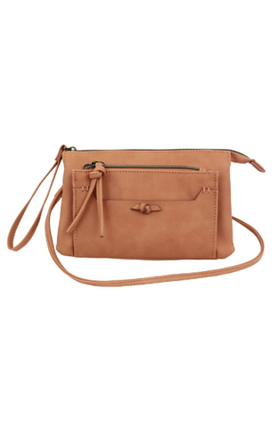 Lea Wood Handle Satchel in Blush