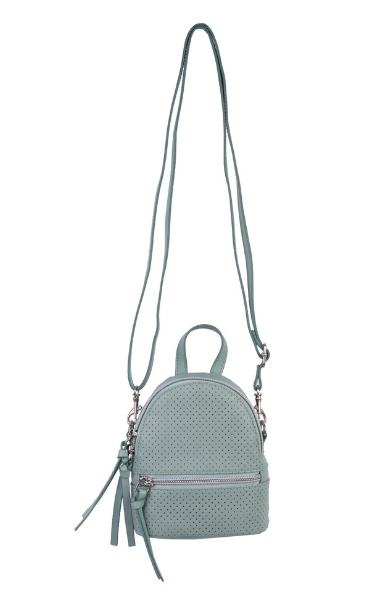 Florence Mini Backpack Crossbody in Mint