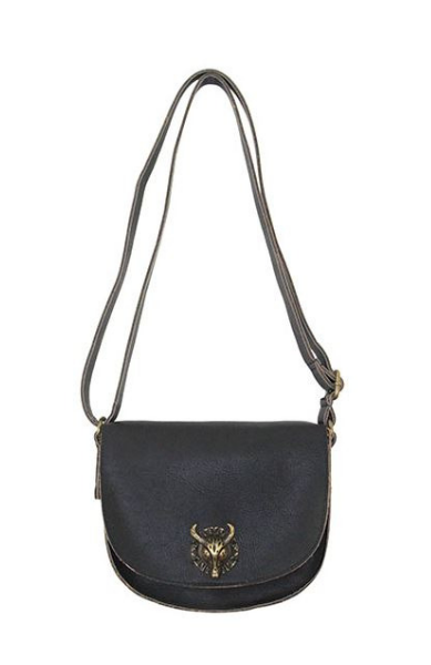 Bull Hardware Crossbody in Black