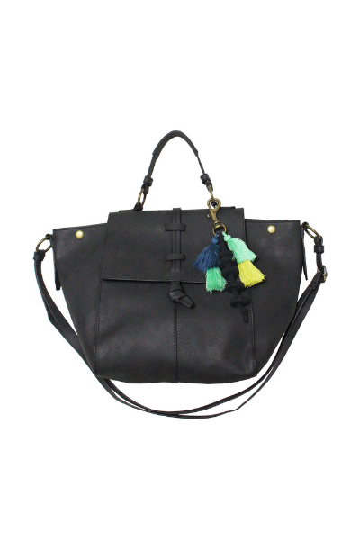 Mystic River Satchel in Black